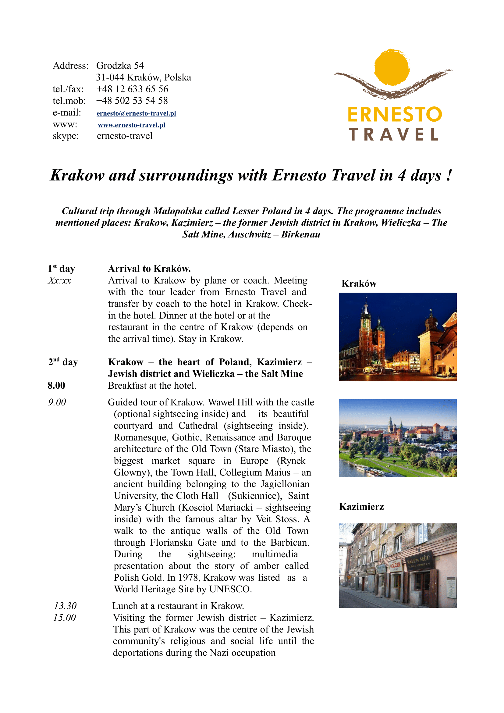 Krakow and surroundings